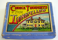 Choice Thoughts from Longfellow game by Milton Bradley Company, ca. 1890