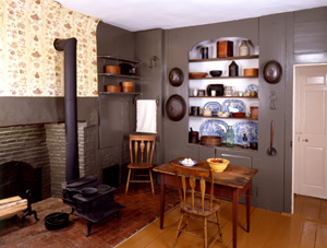 The kitchen of the Wadsworth-Longfellow House